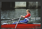 Henley, England,  GBR LW1X,  HOLMES 1990 Women's Henley Regatta, Henley Reach, River Thames Oxfordshire <br /> <br /> <br /> [Mandatory Credit; Peter Spurrier/Intersport-images] 1990 Henley Women's Regatta, Henley,