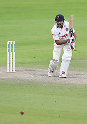 Essex batsman Ravi Bopara hits out from the bowling of Lancashire's Ryan McLaren, during day three of the Specsavers County Championship, Division 1 match at Emirates Old Trafford, Manchester.