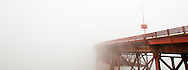 Golden Gate Bridge fogged in