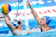24-07-2017: Waterpolo: Nieuw Zeeland v Nederland: Boedapest<br /> <br /> (L-R) Dagmar Genee of team Netherlands during the waterpolomatch between women New Zealand and Netherlands at the 17th FINA World Championships 2017 in Budapest, Hungary<br /> <br /> Photo / Foto: Gertjan Kooij