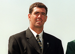 Hansie Cronje, Captain of the South Africa Cricket Team, at Lord's during a photocall with the captains of the teams taking part in the 1999 Cricket World Cup.