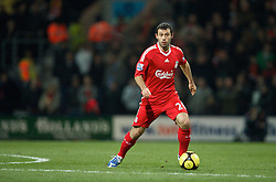 PRESTON, ENGLAND - Saturday, January 3, 2009: Liverpool's Javier Mascherano in action against Preston North End during the FA Cup 3rd Round match at Deepdale. (Photo by David Rawcliffe/Propaganda)