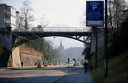 SWITZERLAND BERN 1MAR12 - Cast iron bridge over Kornhausstrasse leading to Bern city centre, Switzerland.....jre/Photo by Jiri Rezac....© Jiri Rezac 2012