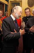 Prince Michael of Kent, Reception to support the Hyde Park Appeal for Liberty Drives ( a charity which enables people to travel around Hyde Park in electric buggies) in the presence of Prince Michael of Kent. Officers Mess. Household Cavalry Mounted Regiment. Hyde Park Barracks. 30 November 2004. ONE TIME USE ONLY - DO NOT ARCHIVE  © Copyright Photograph by Dafydd Jones 66 Stockwell Park Rd. London SW9 0DA Tel 020 7733 0108 www.dafjones.com