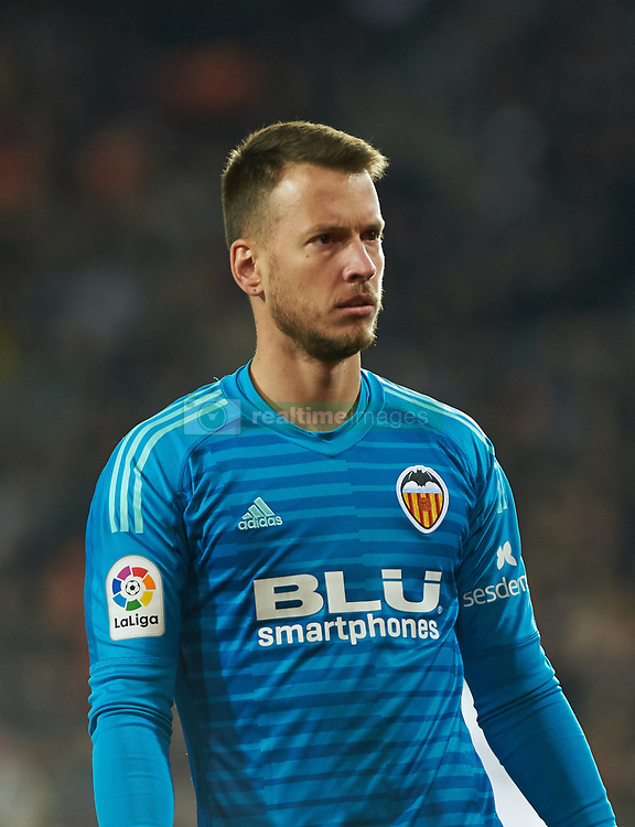 January 26, 2019 - Valencia, Valencia, Spain - Neto Murara of Valencia CF during the La Liga Santander match between Valencia and Villarreal at Mestalla Stadium on Jenuary 26, 2019 in Valencia, Spain. (Credit Image: © AFP7 via ZUMA Wire)