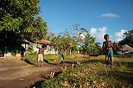 "Ni Vanuatu children on the ""street"" in village Lutes Uleveo/Maskelyne Island, Malampa Province, Malekula, Vanuatu"