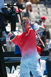 MELBOURNE, Jan. 14, 2019  Kevin Anderson of South Africa celebrates after.    men's single's match between Kevin Anderson of South Africa and Adrian Mannarino of France at the 2019 Australian Open at Melbourne Park in Melbourne, Australia, on Jan. 14, 2019.  Kevin Anderson won 3-1. (Credit Image: © Bai Xuefei/Xinhua via ZUMA Wire)