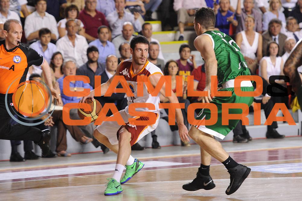 DESCRIZIONE : Roma Lega A 2012-2013 Acea Roma Montepaschi Siena playoff finale gara 5<br /> GIOCATORE : Lorenzo D'Ercole<br /> CATEGORIA : palleggio<br /> SQUADRA : Acea Roma Montepaschi Siena<br /> EVENTO : Campionato Lega A 2012-2013 playoff finale gara 5<br /> GARA : Acea Roma Montepaschi Siena<br /> DATA : 19/06/2013<br /> SPORT : Pallacanestro <br /> AUTORE : Agenzia Ciamillo-Castoria/C.De Massis<br /> Galleria : Lega Basket A 2012-2013  <br /> Fotonotizia : Roma Lega A 2012-2013 Acea Roma Montepaschi Siena playoff finale gara 5<br /> Predefinita :