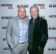 2018-03-20. De Bajes, Amsterdam. Lancering 6e editie van Amsterdam XXXL. Op de foto: John van den Heuvel en Mark Teurlings
