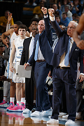 CHAPEL HILL, NC - JANUARY 27: Assistant coach Brad Frederick of the North Carolina Tar Heels coaches against the North Carolina State Wolfpack on January 27, 2018 at the Dean Smith Center in Chapel Hill, North Carolina. North Carolina lost 95-91. (Photo by Peyton Williams/UNC/Getty Images) *** Local Caption *** Brad Frederick