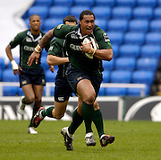 Reading, ENGLAND, Exiles, Dominic Feau'nati, during the London Irish vs Saracens, Guinness Premiership Rugby, at the, Madejski Stadium, 06.05.2006, © Peter Spurrier/Intersport-images.com,  / Mobile +44 [0] 7973 819 551 / email images@intersport-images.com.