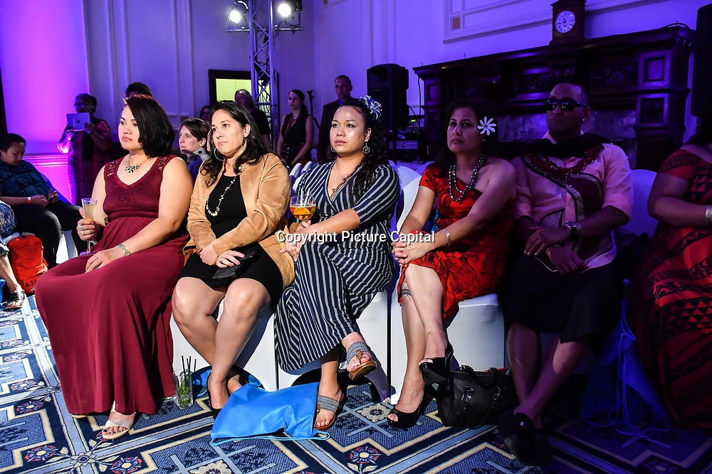 Guests attend the London Pacific Fashion Week 2019 at Royal Horseguards Hotel, on 13 September 2019, London, UK.