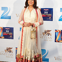 MACAU, CHINA - JANUARY 21:  Indian Bollywood actress Zeenat Aman attends red carpet during the Zee Cine Awards 2012 ceremony at The Venetian Macao-Resort-Hotel on January 21, 2012 in Macau.  Photo by Victor Fraile / studioEAST