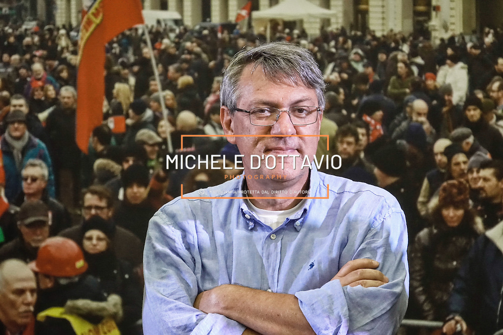 Maurizio Landini ritratto alla Festa FIOM TORINO 2016  presso lo spazio MRF – capannone ex DAI Mirafiori. Torino 8 settembre 2016