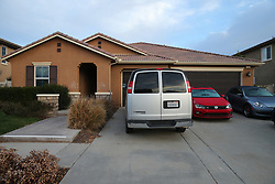This is the Parris California home of David and Louise Turpin, where 13 of their children were found chained and padlocked to their beds. David and Louise were arrest and are currently being held on $9million bail. 18 Jan 2018 Pictured: This is the Parris California home of David and Louise Turpin, where 13 of their children were found chained and padlocked to their beds. David and Louise were arrest and are currently being held on $9million bail. Photo credit: MEGA TheMegaAgency.com +1 888 505 6342
