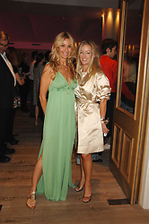 Left to right, MELISSA ODABASH and ALISON HENRY at a party to celebrate Westfield London's sponsorship of the British Fashion Council's Fashion Forward Awards held at the Haymarket Hotel, 1 Suffolk Place, London on 17th July 2007.<br />
