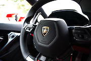 August 2014: Pebble Beach Concours. Lamborghini Huracan detail