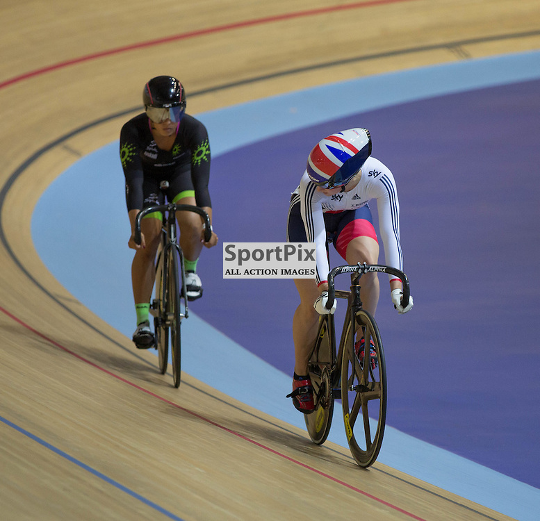 Action in the Women's Sprint at the Revoultion Series 2015/6 Round 1 Derby, Day 2, on 15 August 2015 ( (Photo by Mike Poole - Photopoole)