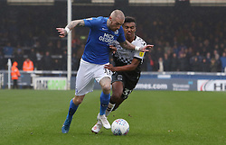Marcus Maddison of Peterborough United in action with Sam McCallum of Coventry City - Mandatory by-line: Joe Dent/JMP - 26/10/2019 - FOOTBALL - Weston Homes Stadium - Peterborough, England - Peterborough United v Coventry City - Sky Bet League One