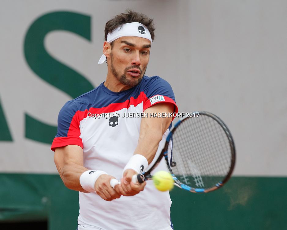 FABIO FOGNINI (ITA)<br /> <br /> Tennis - French Open 2017 - Grand Slam / ATP / WTA / ITF -  Roland Garros - Paris -  - France  - 3 June 2017.