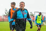 ALKMAAR - 27-07-2016, laatste training AZ voor Europese wedstrijd tegen Pas Giannina , AFAS Stadion, AZ trainer John van den Brom, regen.