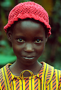 KENYA, HIGHLANDS Portrait of Kikuyu tribe girl