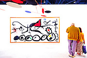Painting by Joan Mir&oacute; entitled &quot;La March Penible Guidee Par L'Osieau Flamboyant Du Desert&quot; at Art Basel Miami Beach 2010.<br />