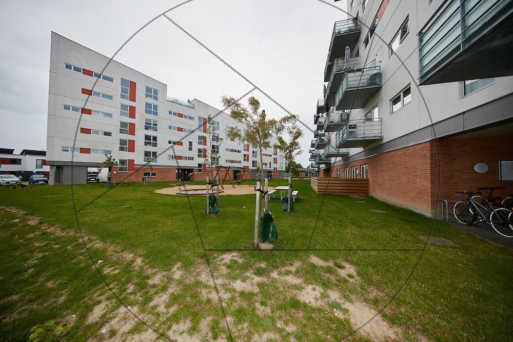 Fasanskellet, Lejerbo, nybyggeri af lejlighedskompleks med altaner, Fasanparken i Ishøj