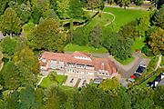 Nederland, Gelderland, Wageningen, 30-09-2015; Generaal Foulkesweg. Schip van Blaauw, voormalige Laboratorium voor Plantenfysiologie (met pannendak).<br /> <br /> luchtfoto (toeslag op standard tarieven);<br /> aerial photo (additional fee required);<br /> copyright foto/photo Siebe Swart