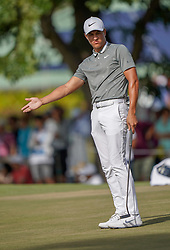 January 10, 2019 - Honolulu, HI, U.S. - HONOLULU, HI - JANUARY 10: Cameron Champ gestures to the ball after hitting his putt on the 9th hole during the first round of the Sony Open on January 10, 2019, at the Waialae Counrty Club in Honolulu, HI. (Photo by Darryl Oumi/Icon Sportswire) (Credit Image: © Darryl Oumi/Icon SMI via ZUMA Press)