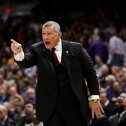 Jan 19, 2019; Baton Rouge, LA, USA; South Carolina Gamecocks head coach Frank Martin reacts during the first half against the LSU Tigers at the Maravich Assembly Center. Mandatory Credit: Derick E. Hingle-USA TODAY Sports