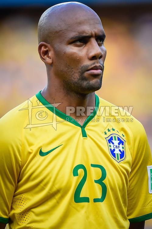 Maicon na partida entre Brasil x Colombia, válida pelas quartas de final da Copa do Mundo 2014, no Estádio Castelão, em Fortaleza-CE. FOTO: Jefferson Bernardes/ Agência Preview