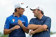 © Filippo Alfero<br /> Golf Italian Open<br /> Torino, 12/06/2011<br /> sport golf<br /> Nella foto: Matteo Manassero e Francesco Molinari