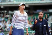 Maria SHARAPOVA - arbitre  - 01.06.2015 - Jour 9 - Roland Garros 2015<br />Photo : Nolwenn Le Gouic / Icon Sport