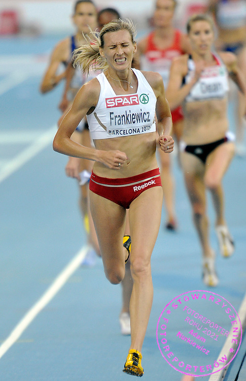 WIOLETTA FRANKIEWICZ ( MAIDEN NAME: JANOWSKA ) (POLAND) COMPETES IN THE WOMEN'S 3000 METERS STEEPLECHASE DURING THE 2010 EUROPEAN ATHLETICS CHAMPIONSHIPS AT OLYMPIC STADIUM IN BARCELONA, SPAIN...SPAIN , BARCELONA , JULY 30, 2010..( PHOTO BY ADAM NURKIEWICZ / MEDIASPORT )..PICTURE ALSO AVAIBLE IN RAW OR TIFF FORMAT ON SPECIAL REQUEST.