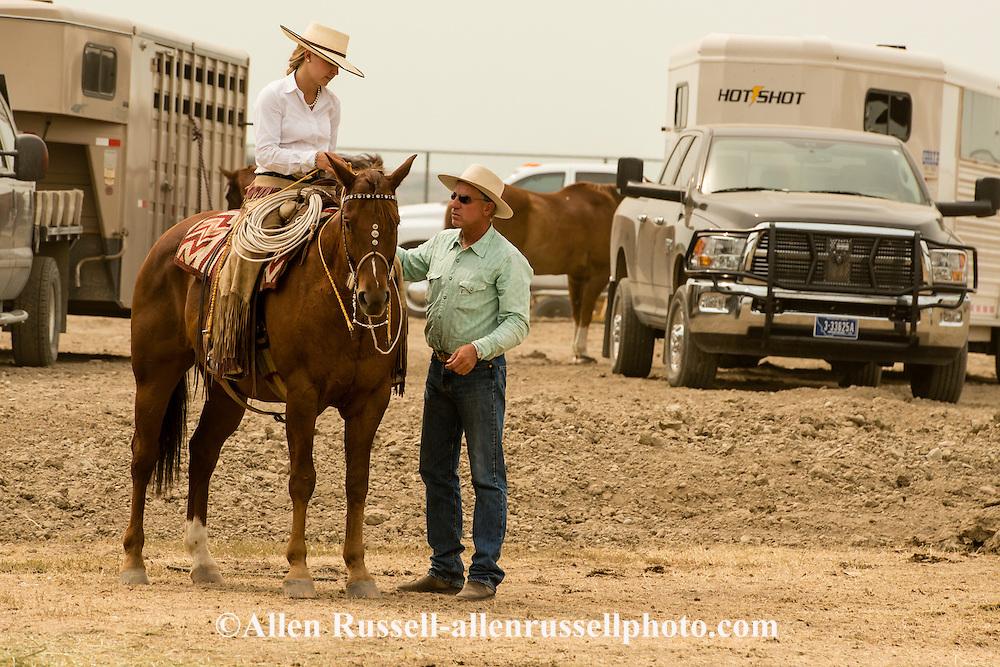 Will James Roundup, Ranch Rodeo, Working Ranch Horse, Hardin, Montana, Reata Brannaman with dad Buck Brannaman .