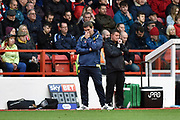 Burton Albion manager Nigel Clough reacts during the EFL Sky Bet Championship match between Nottingham Forest and Burton Albion at the City Ground, Nottingham, England on 21 October 2017. Photo by Richard Holmes.