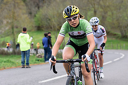 Sheyla Gutierrez approaches the top of the categorised climb - Emakumeen Bira 2016 Stage 1 - A 76.6km road stage starting and finishing in Eskoriatza, Spain on 14th April 2016.