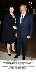 General LORD GUTHERIE OF CRAIGIEBANK and LADY GUTHERIE at a reception in London on 14th November 2003.POP 27
