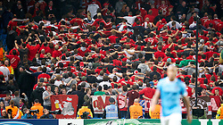 MANCHESTER, ENGLAND - Wednesday, October 2, 2013: Bayern Munich supporters during the UEFA Champions League Group D match against Manchester City at the City of Manchester Stadium. (Pic by David Rawcliffe/Propaganda)