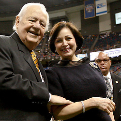 December 16, 2012; New Orleans, LA, USA; New Orleans Saints owner Tom Benson and Gayle Benson before a game against the Tampa Bay Buccaneers at the Mercedes-Benz Superdome. The Saints defeated the Buccaneers 41-0. Mandatory Credit: Derick E. Hingle-USA TODAY Sports