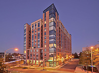 Arlington VA Building Photographers Architectural image of the apartment building Io Piazza by Jeffrey Sauers of Commercial Photographics