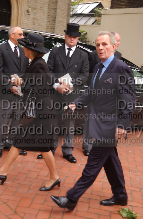Mark Shand, Mark Birley funeral. St Paul's , Knightsbridge. London. 19 September 2007. -DO NOT ARCHIVE-© Copyright Photograph by Dafydd Jones. 248 Clapham Rd. London SW9 0PZ. Tel 0207 820 0771. www.dafjones.com.