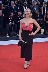 Sarah Gadon attending the Vox Lux premiere during the 75th Venice Film Festival