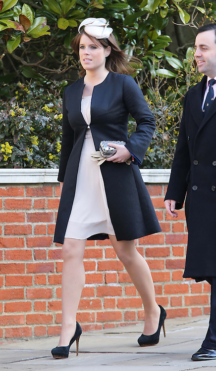 Princess Eugenie arriving at  the Easter Day service at St.George's Chapel, Windsor Castle, Sunday, 31st March 2013.  Photo by: Stephen Lock / i-Images