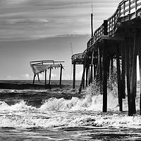 26 July 2011: The Frisco Pier in Frisco, NC has been abandoned and is falling into the Atlantic. I wanted to shoot it before it is gone for good. Full color in camera infrared photos, some converted to B&W.