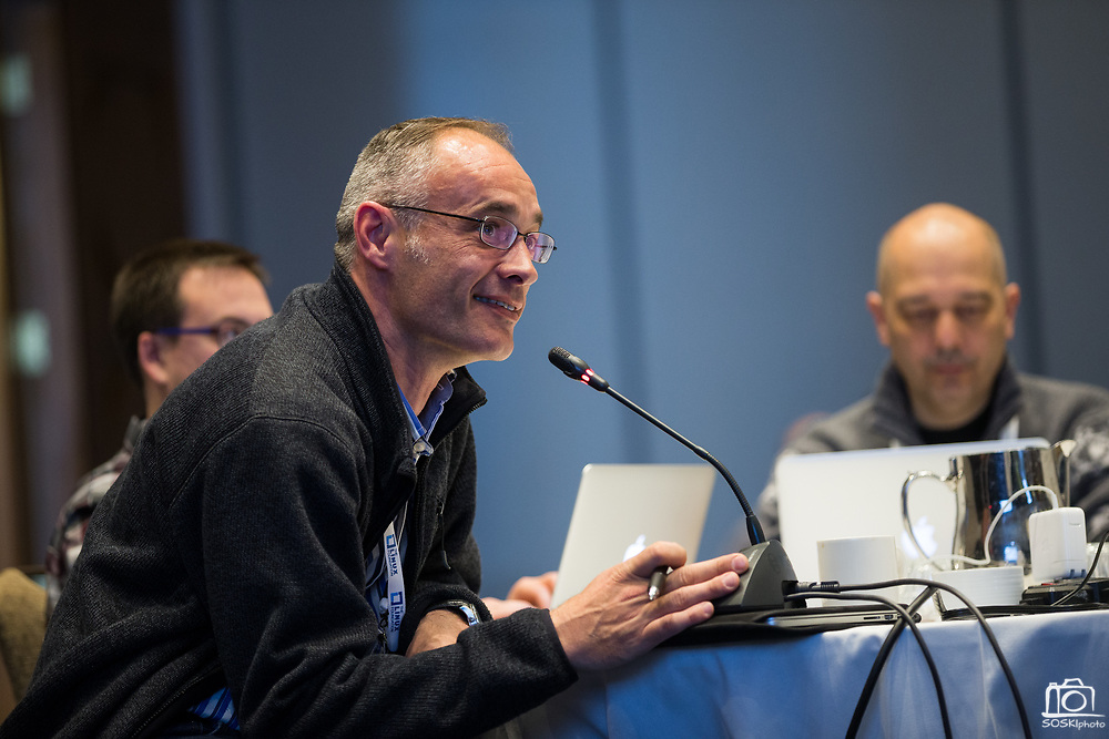The Linux Foundation hosts its Linux Storage Filesystem & MM Summit 2017 at the Hyatt Regency Cambridge in Cambridge, Massachusetts, on March 21, 2017. (Stan Olszewski/SOSKIphoto)