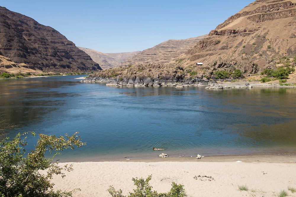 USA,Idaho, Lewistown, Buffalo Eddy and Snake River,