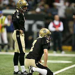 2007 December, 16: New Orleans Saints PK Martin Gramatica (1) before attempting a field goal during a 31-24 win by the New Orleans Saints over the Arizona Cardinals at the Louisiana Superdome in New Orleans, LA.