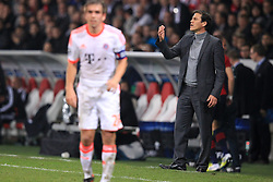 23.10.2012, Grand Stade Lille Metropole, Lille, OSC Lille vs FC Bayern Muenchen, im Bild Rudi GARCIA (Trainer OSC Lille) rechts // during UEFA Championsleague Match between Lille OSC and FC Bayern Munich at the Grand Stade Lille Metropole, Lille, France on 2012/10/23. EXPA Pictures © 2012, PhotoCredit: EXPA/ Eibner/ Ben Majerus..***** ATTENTION - OUT OF GER *****